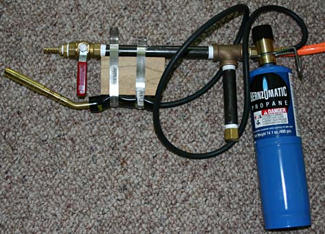 how to make small blow torch with water bottle alcohol